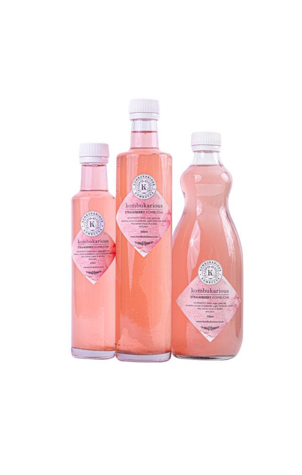 kombucha probiotics strawberry-drink